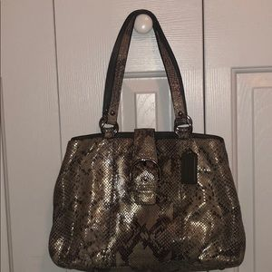 Coach Soho Embossed Exotic Python Leather Tote